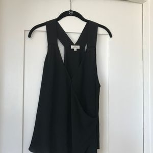 Wilfred Crepe Crossover tank with silk trim
